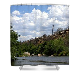 Clouds Over The Kern Shower Curtain
