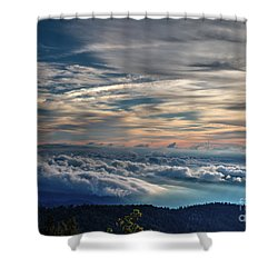 Shower Curtain featuring the photograph Clouds Over The Smoky's by Douglas Stucky