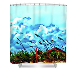 Clouds Over Vilano Beach Shower Curtain