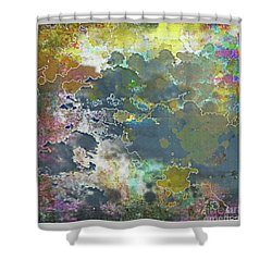 Clouds Over Water Shower Curtain by Deborah Nakano