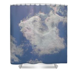 Clouds Rainbow Reflections Shower Curtain by Cindy Croal