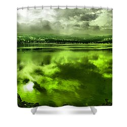 Shower Curtain featuring the photograph Clouds Reflecting Off The Columbia  by Jeff Swan