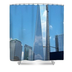 Clouds Reflection Shower Curtain
