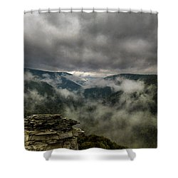Clouds Rising At Lindy Point Shower Curtain