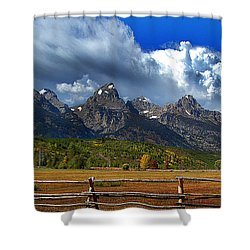 Shower Curtain featuring the photograph Clouds Rising by Diane E Berry