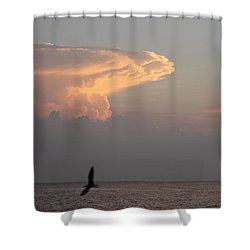 Shower Curtain featuring the photograph Clouds Signalling Dawn by Robert Banach