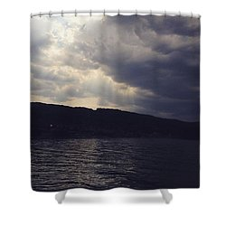 #clouds #sky #cloud #blueskys Shower Curtain by David Hendrych