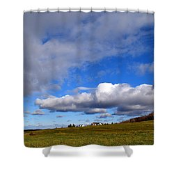 Clouds Upstate New York Shower Curtain by Diane Lent