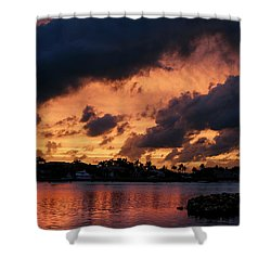 Shower Curtain featuring the photograph Cloudscape by Laura Fasulo