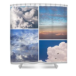 Shower Curtain featuring the photograph Cloudscapes Collage by Jenny Rainbow
