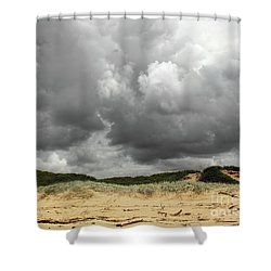 Shower Curtain featuring the photograph Cloudy Beach II By Kaye Menner by Kaye Menner