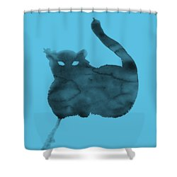 Shower Curtain featuring the painting Cloudy Cat by Marc Philippe Joly