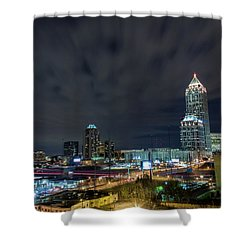 Cloudy City Shower Curtain