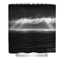 Cloudy Day At The Sae Shower Curtain