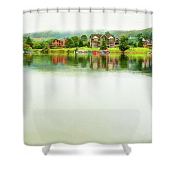 Cloudy Day On The Lake Shower Curtain