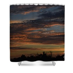 Shower Curtain featuring the photograph Cloudy Kansas Evening by Mark McReynolds