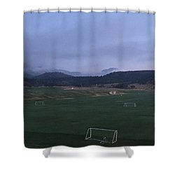 Cloudy Morning At The Field Shower Curtain