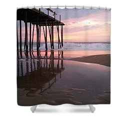 Cloudy Morning Reflections Shower Curtain by Robert Banach