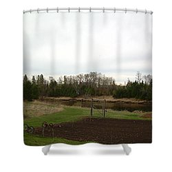 Shower Curtain featuring the photograph Cloudy Spring Dawn After Rain by Kent Lorentzen
