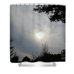 Cloudy Sun Shower Curtain by Michele Penner
