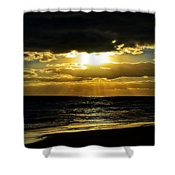 Cloudy Sunrise At Flagler Beach 002 Shower Curtain