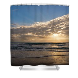 Cloudy Sunrise In The Mediterranean Shower Curtain