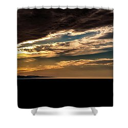 Cloudy Sunset Shower Curtain by Onyonet  Photo Studios