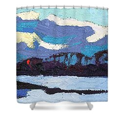 Cloudy Sunset Shower Curtain by Phil Chadwick