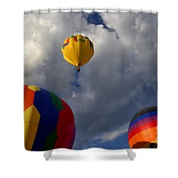 Cloudy With Baloons Shower Curtain
