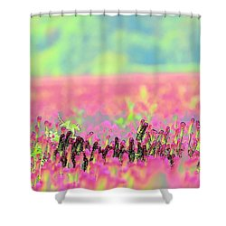 Shower Curtain featuring the photograph Clover Details by Jerry Sodorff