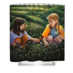 Clover Field Surprise Shower Curtain by Glenn Beasley