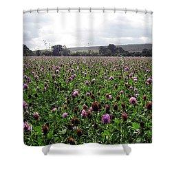 Clover Field Wiltshire England Shower Curtain by Kurt Van Wagner