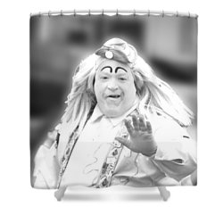 Clown 46 For Coloring Shower Curtain by Ericamaxine Price