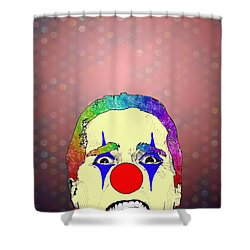 clown Christian Bale Shower Curtain