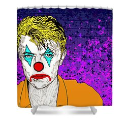 Clown David Bowie Shower Curtain