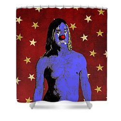 Clown Iggy Pop Shower Curtain