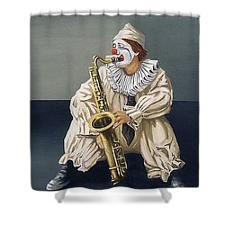 Shower Curtain featuring the painting Clown by Natalia Tejera