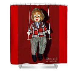 Shower Curtain featuring the photograph Clown On Swing By Kaye Menner by Kaye Menner