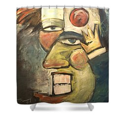 Clown Painting Shower Curtain by Tim Nyberg