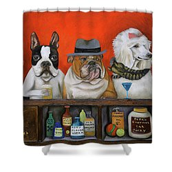 Club K9 Shower Curtain by Leah Saulnier The Painting Maniac