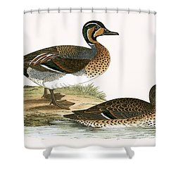 Clucking Teal Shower Curtain by English School