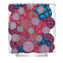 Cluster Of Spheres Shower Curtain