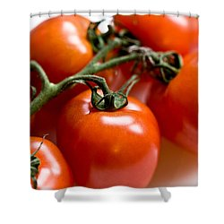 Cluster Of Tomatoes Shower Curtain by Hakon Soreide