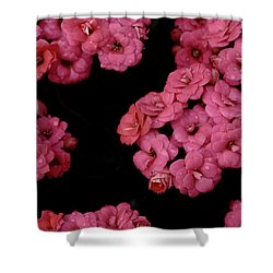 Clusters Of Pink Shower Curtain