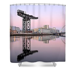 Shower Curtain featuring the photograph Clyde Hues by Grant Glendinning