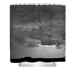 Co Cloud To Cloud Lightning Thunderstorm 27 Bw Shower Curtain by James BO  Insogna
