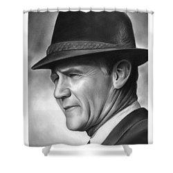 Coach Tom Landry Shower Curtain by Greg Joens