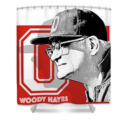 Coach Woody Hayes Shower Curtain by Greg Joens