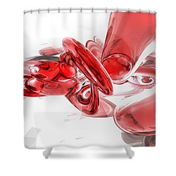 Coagulation Abstract Shower Curtain by Alexander Butler