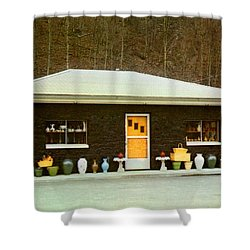 Coal House  Shower Curtain by Ruth  Housley